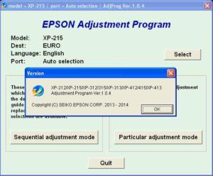 XP215 Version