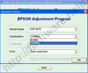 [Epson WF2010, WF2510, WF2520, WF2530, WF2540 Adjustment Program]