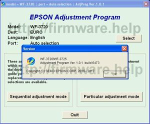 [Epson WF3720, WF3725 Adjustment Program]