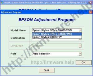 [Epson BX620FW, BX625FWD Adjustment Program]