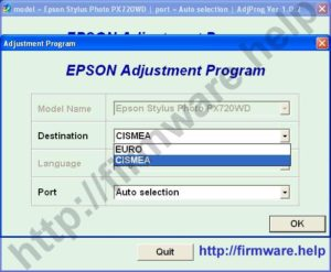 Epson PX720 Adjustment Program