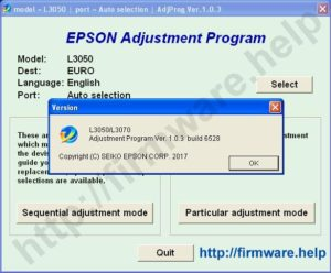 [Epson L3050, L3070 Adjustment Program]