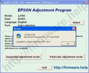 [Epson L4150, L4160 Adjustment Program]